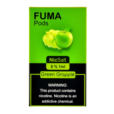 Fuma - Fuma Green Grapple 4 Pods - Drops of Vapor