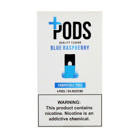 Plus Pods - Plus Pods Blue Raspberry Pack of 4 - Drops of Vapor