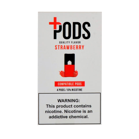 Plus Pods - Plus Pods Strawberry Pack of 4 - Drops of Vapor