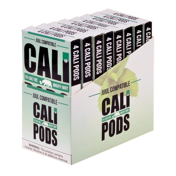 Cali Pods - Cali Pods Mighty Mint 4 Pods - Drops of Vapor