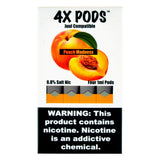 4X PODS - 4X Peach Madness 4 Pods - Drops of Vapor