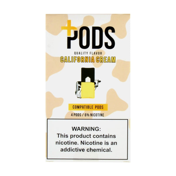 Plus Pods - Plus Pods California Cream Pack of 4 - Drops of Vapor