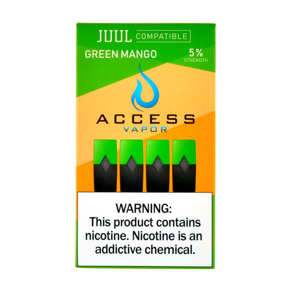 Access Vapor - Access Vapor Green Mango 4 Pods - Drops of Vapor