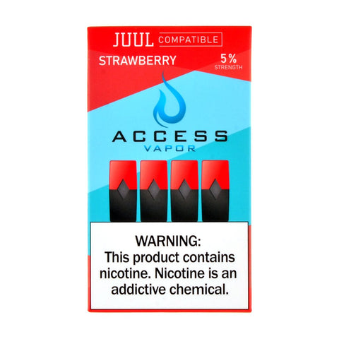 Access Vapor - Access Vapor Strawberry 4 Pods - Drops of Vapor