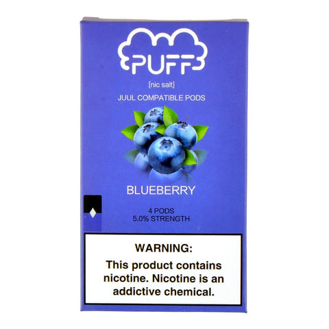 Puff - Puff Blueberry 4 Pods - Drops of Vapor
