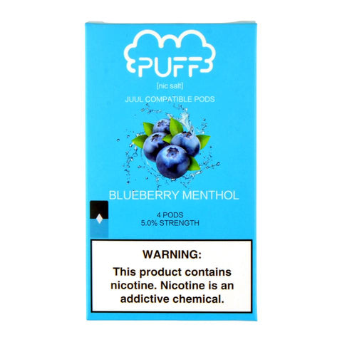 Puff - Puff Blueberry Menthol 4 Pods - Drops of Vapor