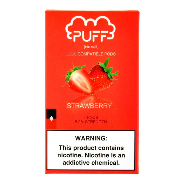 Puff - Puff Strawberry 4 Pods - Drops of Vapor