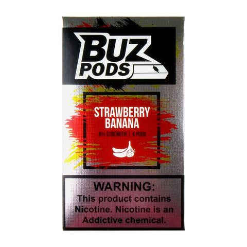 Buz - Buz Strawberry Banana 4 Pods - Drops of Vapor
