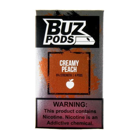Buz - Buz Creamy Peach 4 Pods - Drops of Vapor