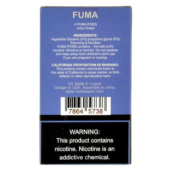 Fuma - Fuma Juicy Grape 4 Pods - Drops of Vapor
