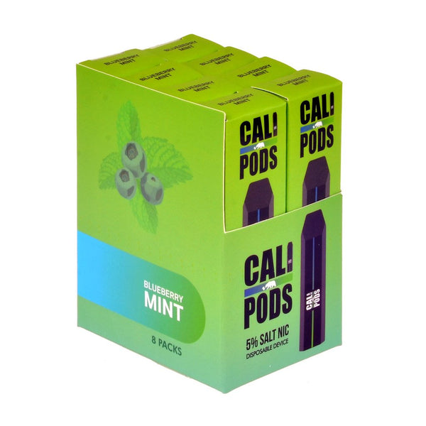 Cali Pods - Cali Disposable Pod Device Blueberry Mint - Drops of Vapor