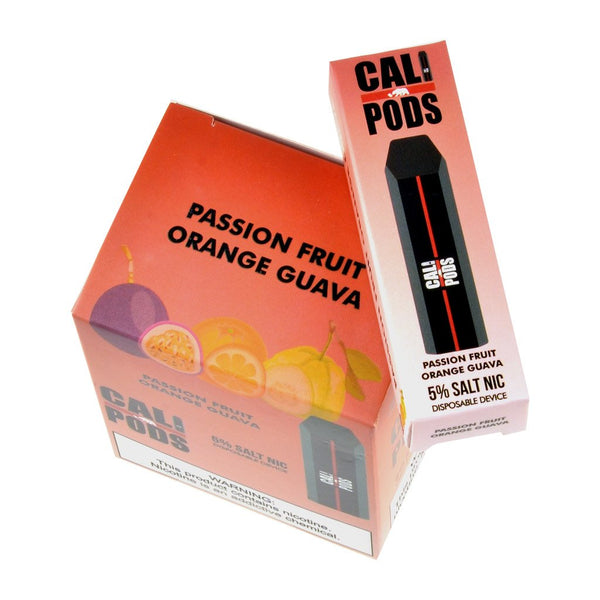 Cali Pods - Cali Disposable Pod Device Passion Fruit Orange Guava - Drops of Vapor