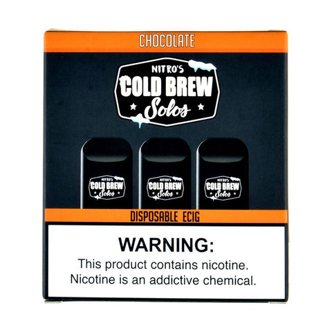 Nitro's Cold Brew - Nitro's Cold Brew Solos Chocolate Disposable E-Cig - Drops of Vapor