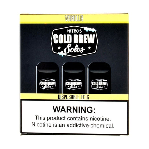 Nitro's Cold Brew - Nitro's Cold Brew Solos Vanilla Disposable E-Cig - Drops of Vapor