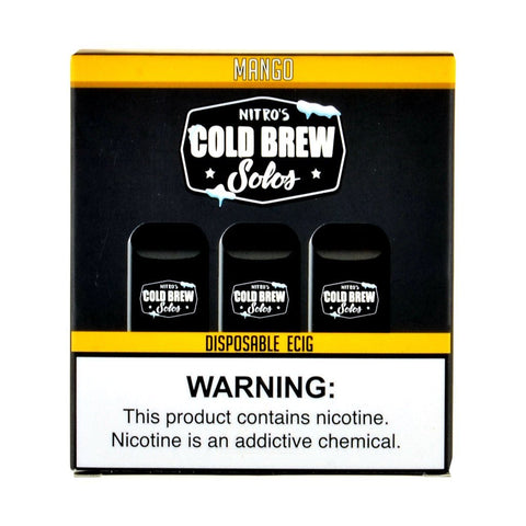 Nitro's Cold Brew - Nitro's Cold Brew Solos Mango Disposable E-Cig - Drops of Vapor