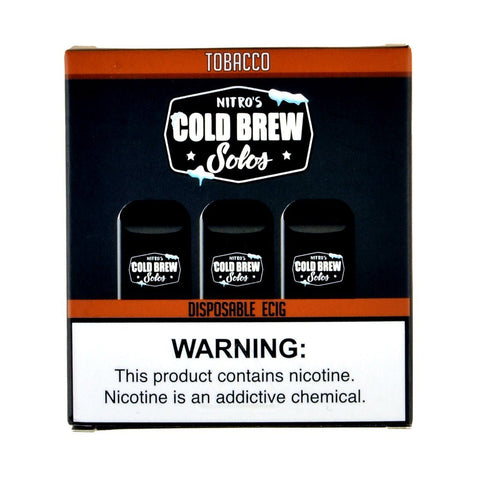 Nitro's Cold Brew - Nitro's Cold Brew Solos Tobacco Disposable E-Cig - Drops of Vapor