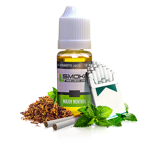 LSmoke - Major Menthol E Liquid - Drops of Vapor