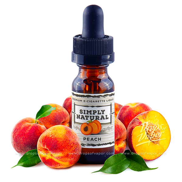 Simply Natural Premium E-Liquid Peach - Drops of Vapor - 1