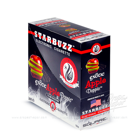 Starbuzz - Starbuzz Apple Doppio e-Cigs Box of 12 - Drops of Vapor