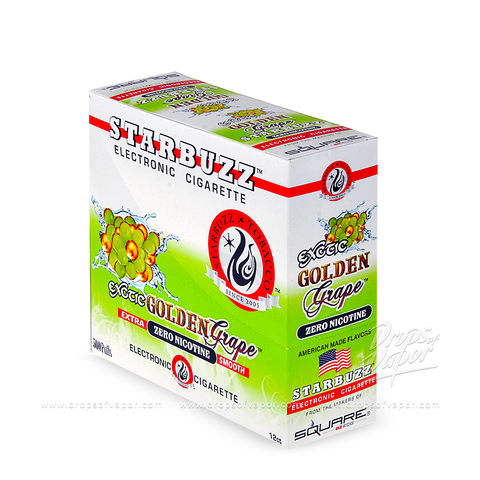 Starbuzz - Starbuzz Golden Grape e-Cigs Box of 12 - Drops of Vapor