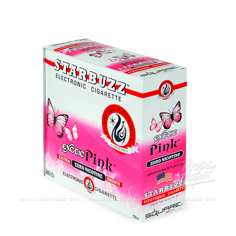 Starbuzz - Starbuzz Pink e-Cigs Box of 12 - Drops of Vapor