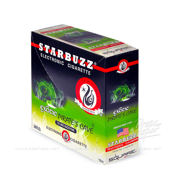 Starbuzz - Starbuzz Pirates Cave e-Cigs Box of 12 - Drops of Vapor