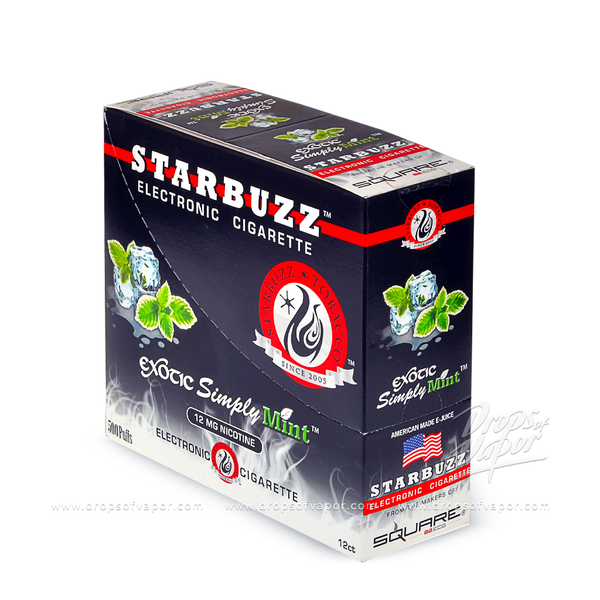 Starbuzz Starbuzz Simply Mint e-Cigs Box of 12 - Drops of Vapor