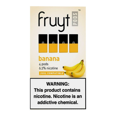 Fruyt Pods - Fruyt Pods Banana Pack of 4 - Drops of Vapor