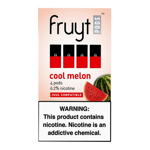 Fruyt Pods - Fruyt Pods Cool Melon Pack of 4 - Drops of Vapor