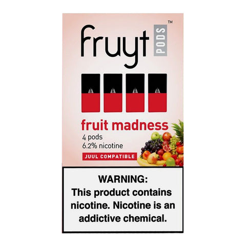 Fruyt Pods - Fruyt Pods Fruit Madness Pack of 4 - Drops of Vapor