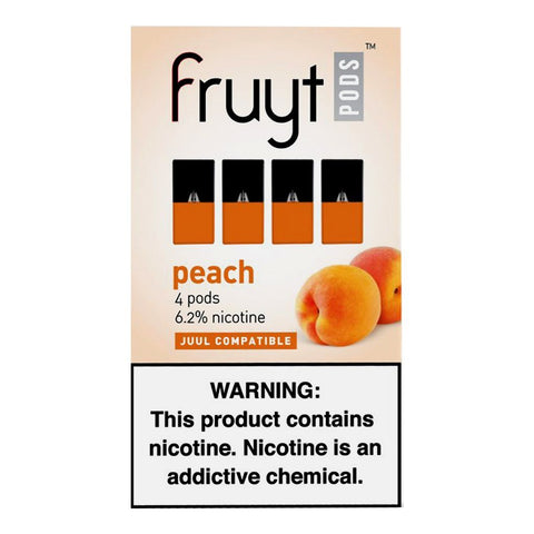 Fruyt Pods - Fruyt Pods Peach Pack of 4 - Drops of Vapor