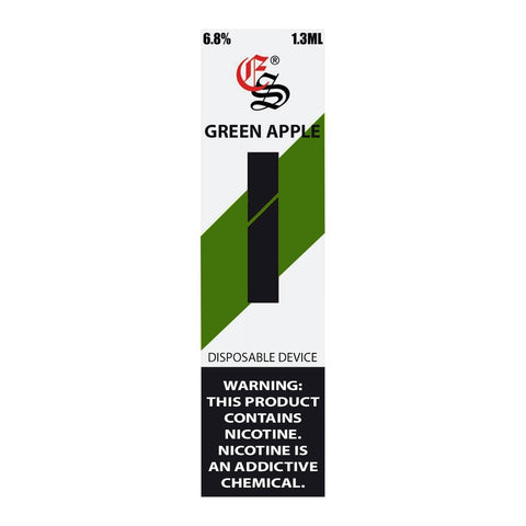 EonSmoke - Eonsmoke Stik Disposable Pod Device Green Apple - Drops of Vapor