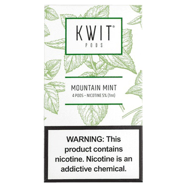 Kwit by Aspire - KWIT STICK Mountain Mint 4 Pods - Drops of Vapor