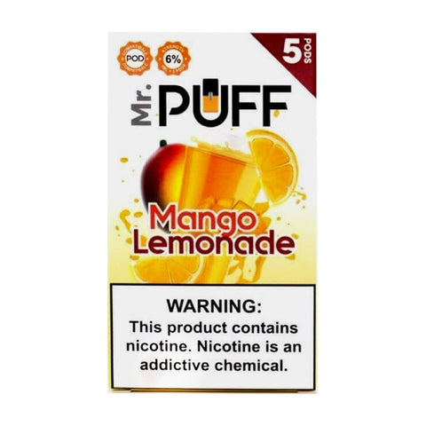 Mr Puff Mango Lemonade 5 Pods