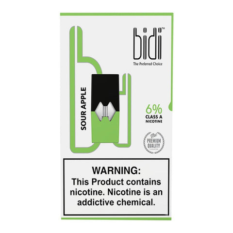 Bidi - Bidi Sour Apple 4 Pods - Drops of Vapor