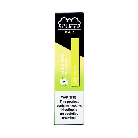 Puff - Puff Bar Disposable Pod Device Sour Apple - Drops of Vapor