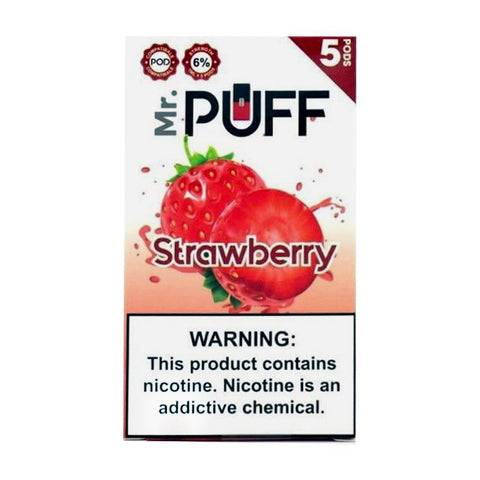 Mr Puff Strawberry 5 Pods