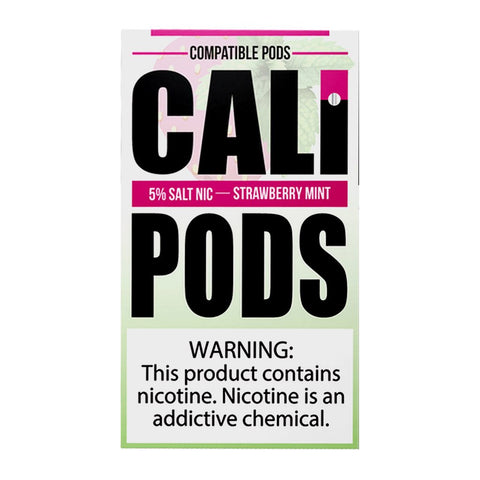 Cali Pods - Cali Pods Strawberry Mint 4 Pods - Drops of Vapor