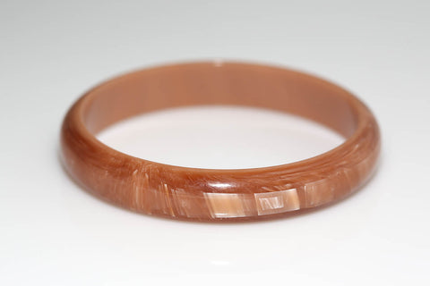Brown Textured Lucite Bangle
