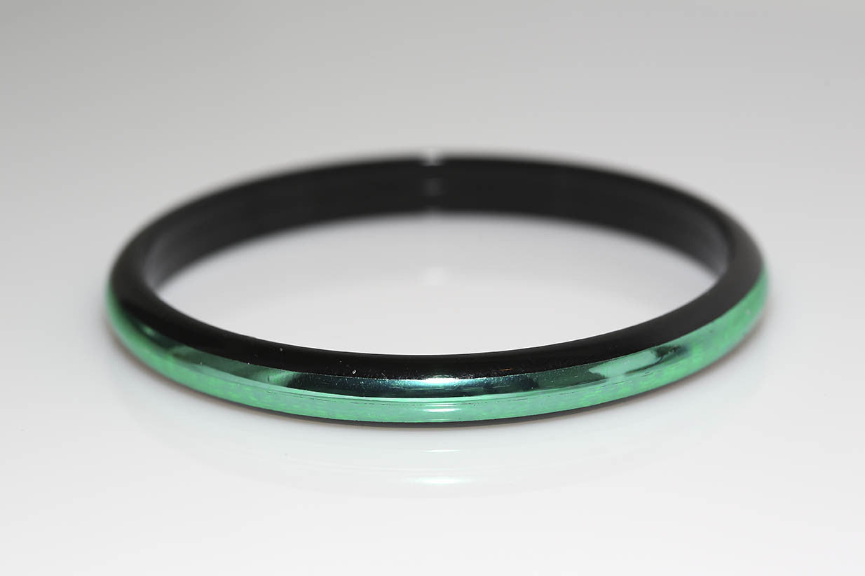 Metallic Green and Black Bracelet