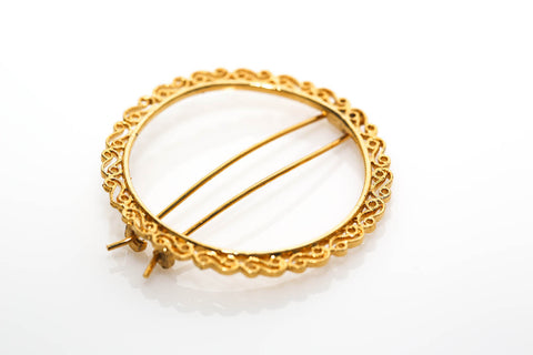 Gold Filigree Hair Jewelry