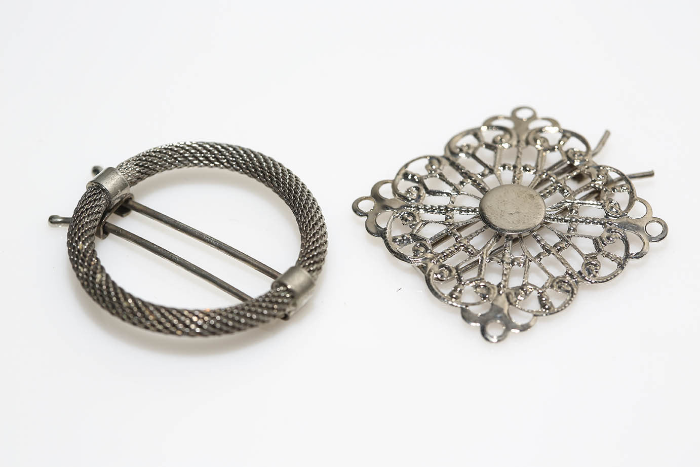 Barrette Duo in Silver