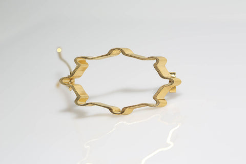 Gold Slant Barrette