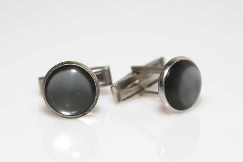 Silver and Gray Cufflinks