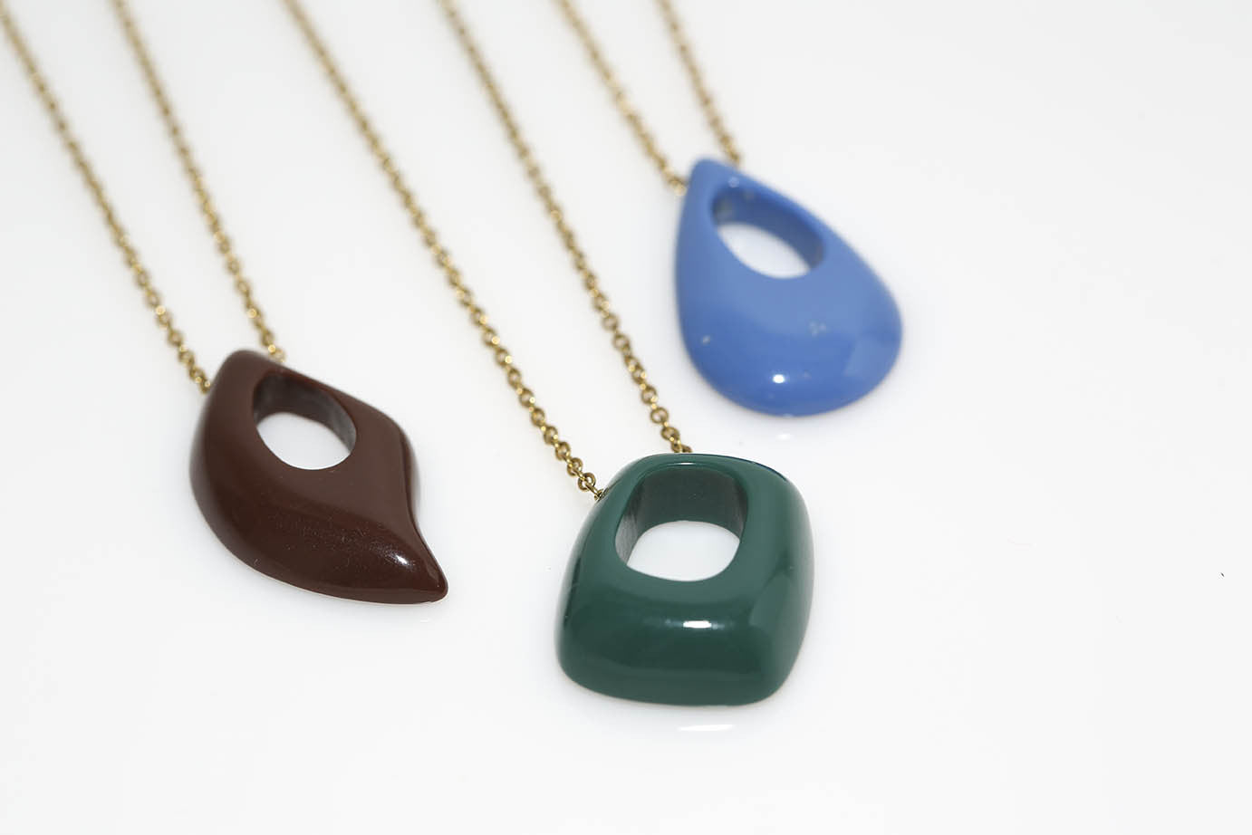 Multi Colored Open Drop Necklaces
