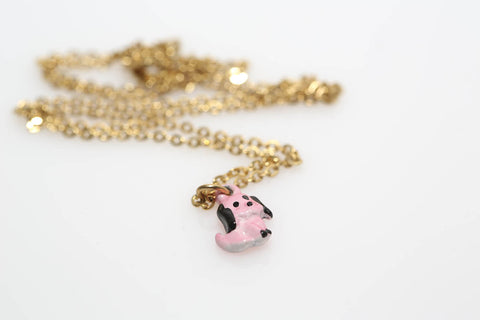 Little Pink Dog Necklace