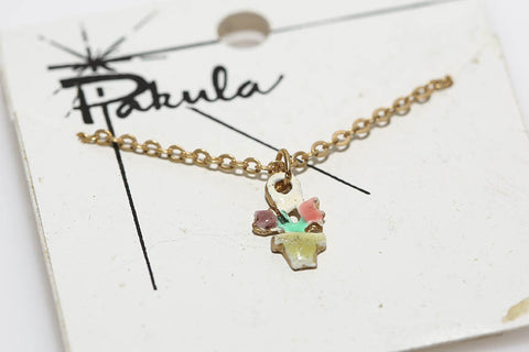 Pakula Flower Necklace in Pink & Purple