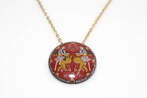 Asian Art Necklace