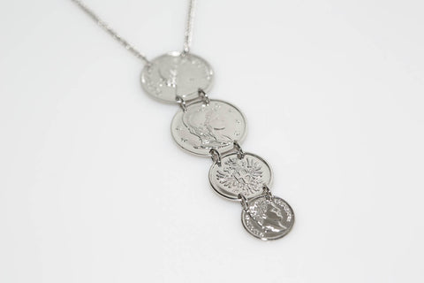 Four Coin Necklace
