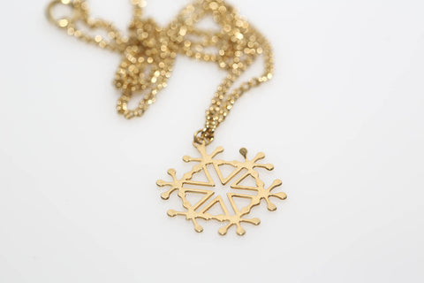 Golden Snowflake Necklace